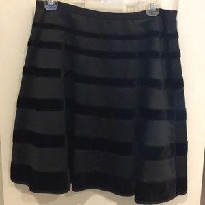 Satin and Velvet Skirt size small